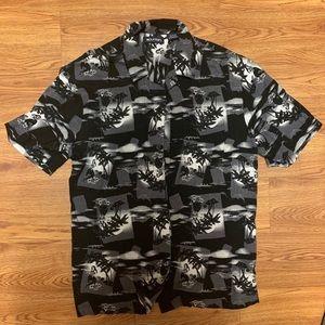 Hawaiian girl button down shirt